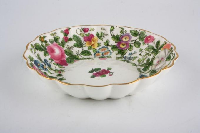 """Crown Staffordshire Thousand Flowers Tray (Giftware) Fluted 5 1/8"""""""
