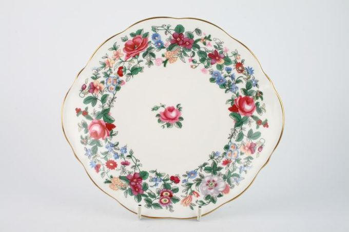 Crown Staffordshire Thousand Flowers Serving Dish Eared, Shallow 8 3/8""