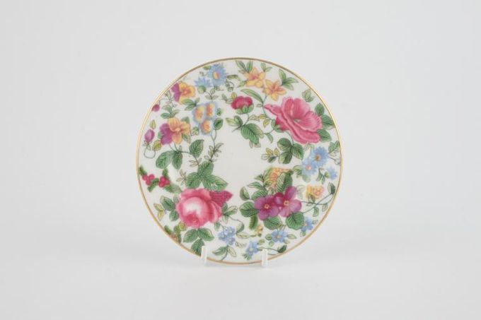 """Crown Staffordshire Thousand Flowers Butter Pat 3 7/8"""""""