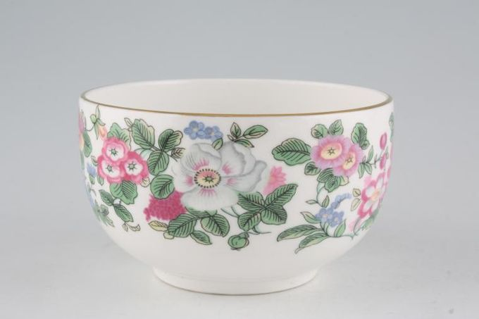 """Crown Staffordshire Thousand Flowers Sugar Bowl - Open (Tea) Flower on inside - No Gold on Foot 4 1/4 x 2 1/2"""""""