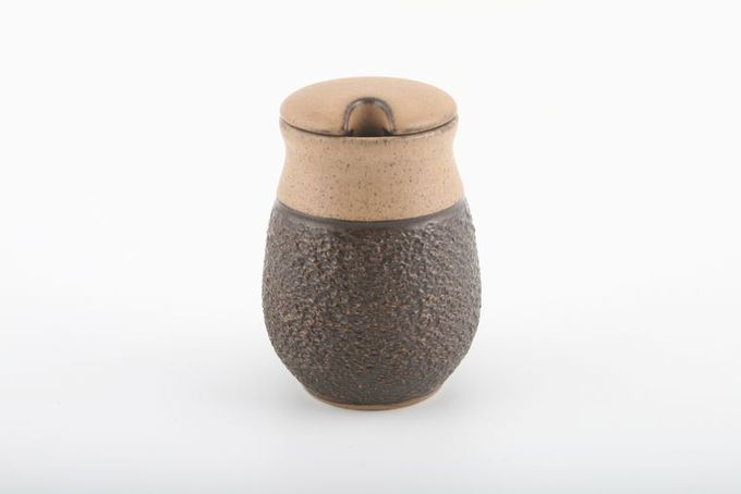 "Denby Cotswold Mustard Pot + Lid 1 3/4 x 3 1/4"""