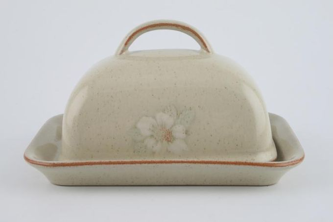 Denby Daybreak Butter Dish + Lid Handle On Lid/ Rounded Lid