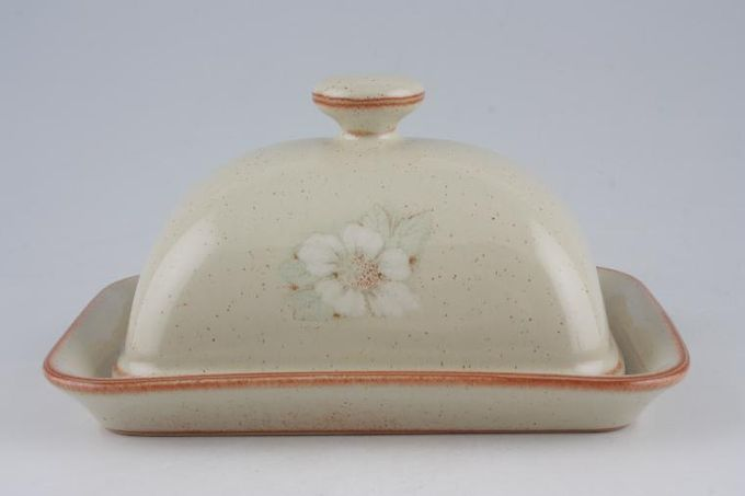 Denby Daybreak Butter Dish + Lid Knob On Lid / Rounded Lid