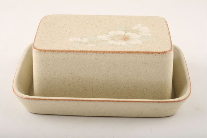 Denby Daybreak Butter Dish + Lid Deep, square shaped Lid, Shallow Base
