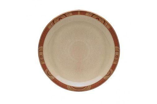 "Denby Fire Dinner Plate Chilli - Pattern on Rim 10 1/2"""