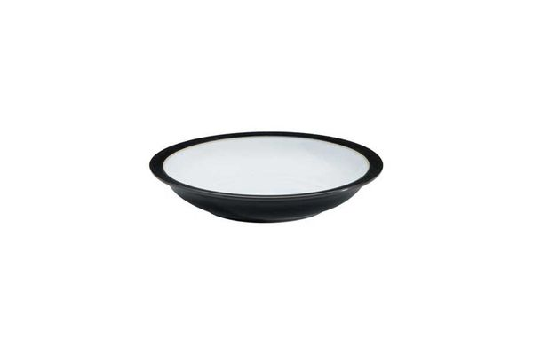 """Denby Jet Rimmed Bowl Black 8 1/4"""""""