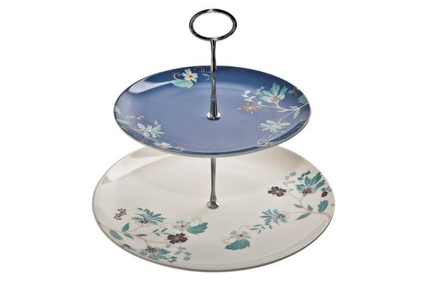 Denby Monsoon Veronica 2 Tier Cake Stand