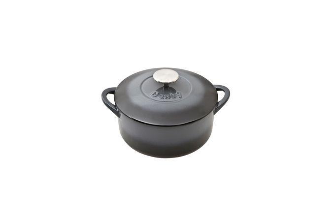 Denby Halo Casserole Dish + Lid CAST IRON - ROUND 20cm