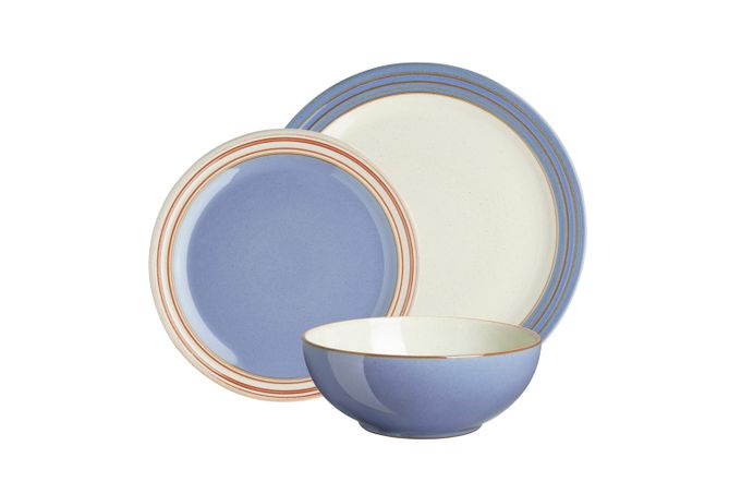 Denby Heritage Fountain 12 Piece Set 4 x Dinner Plate, 4 x Medium Plate, 4 x Cereal Bowl