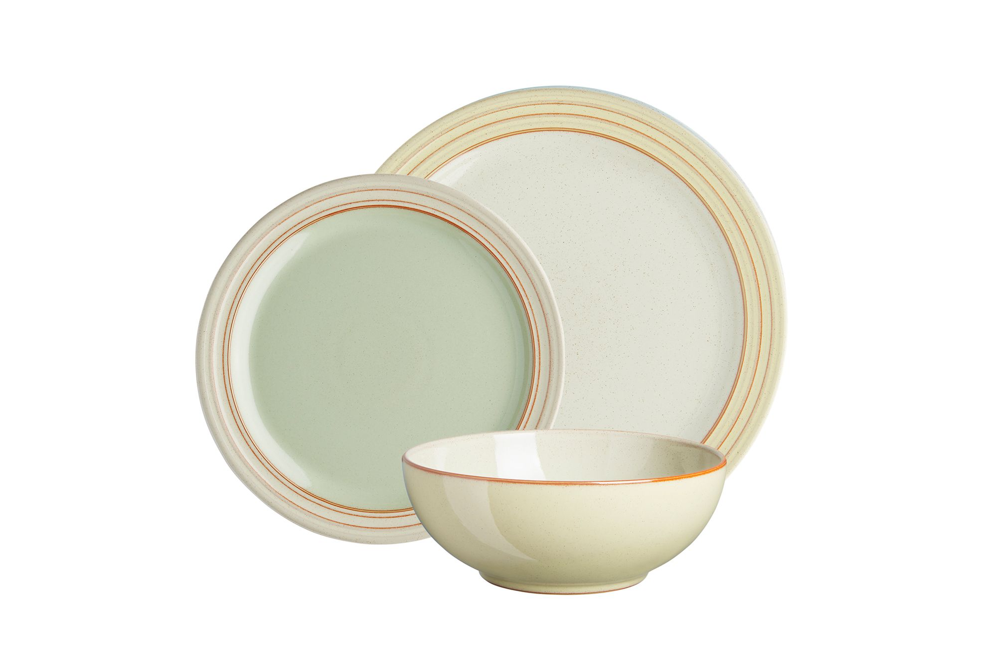 Denby Heritage Veranda 12 Piece Set 4 x Dinner Plate, 4 x Medium Plate, 4 x Cereal Bowl thumb 1