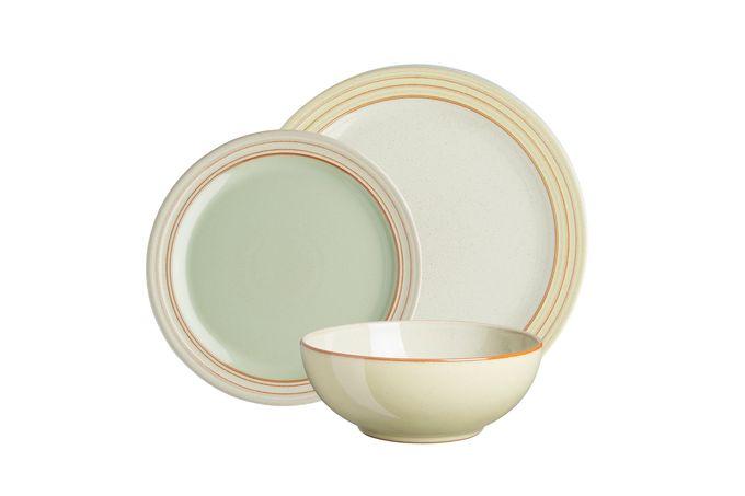 Denby Heritage Veranda 12 Piece Set 4 x Dinner Plate, 4 x Medium Plate, 4 x Cereal Bowl