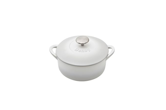 Denby Natural Canvas Casserole Dish + Lid Cast Iron - Round 20cm
