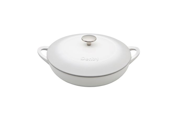 Denby Natural Canvas Casserole Dish + Lid CAST IRON - SHALLOW 30cm