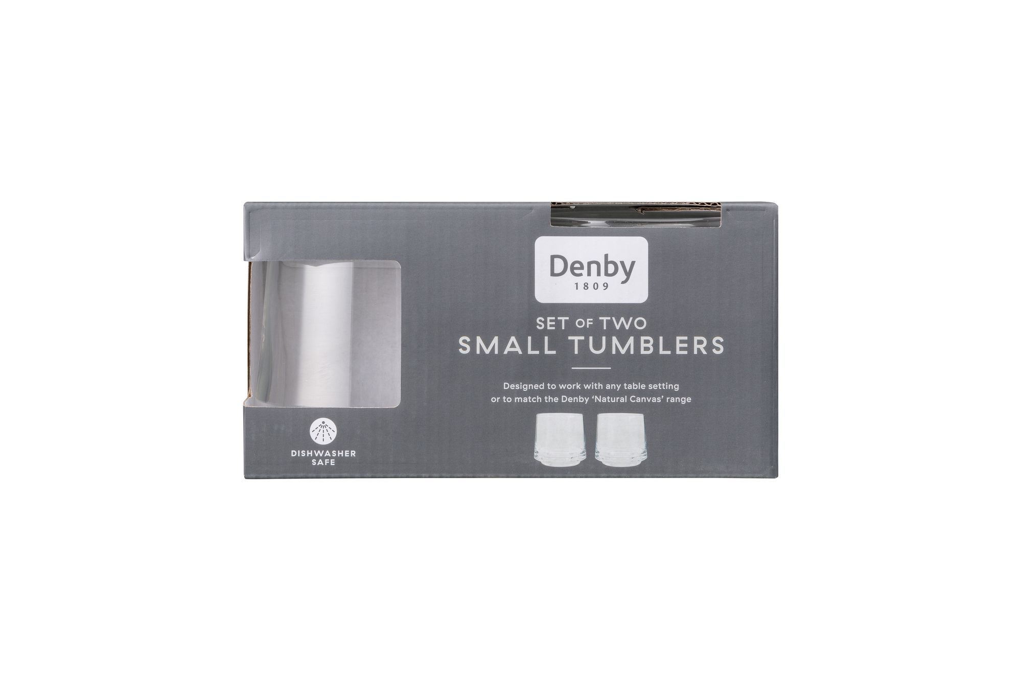 Denby Natural Canvas Tumbler - Set of 2 SMALL thumb 1