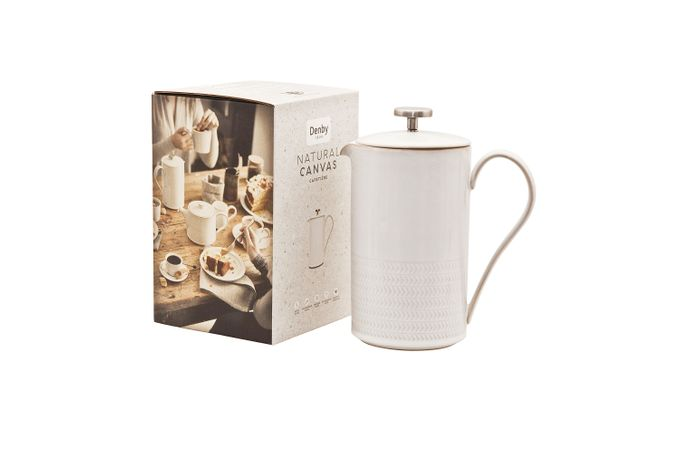 Denby Natural Canvas Cafetiere TEXTURED