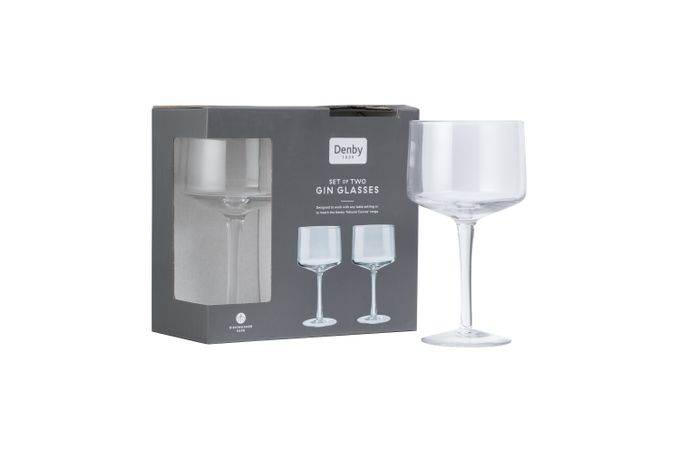 Denby Natural Canvas Pair of Gin Glasses 580ml