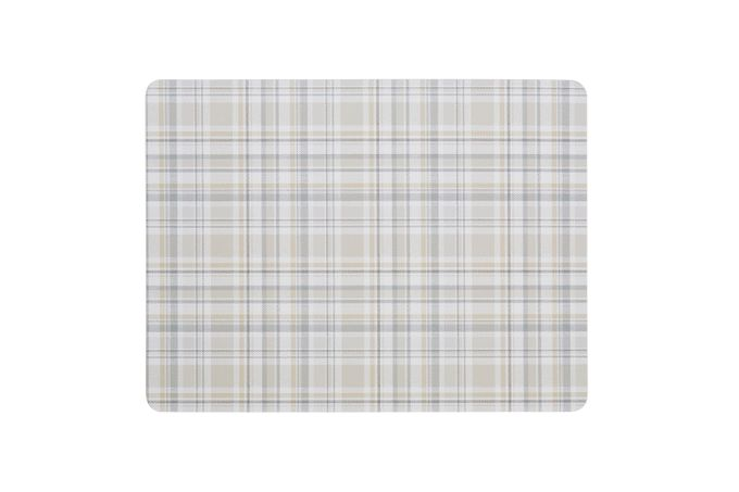 Denby Elements - Checks Placemats - Set of 6 NATURAL 30.5 x 23cm
