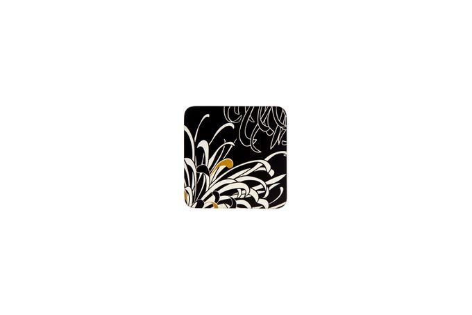 Denby Monsoon Chrysanthemum Coasters - Set of 4 Charcoal