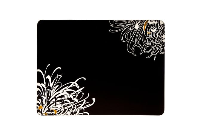 Denby Monsoon Chrysanthemum Placemats - Set of 4 Charcoal