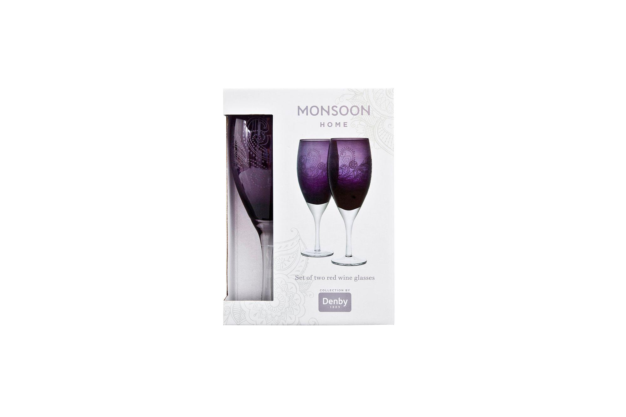 Denby Monsoon Cosmic Pair of Red Wine Glasses thumb 1