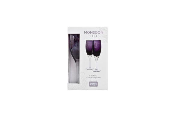 Denby Monsoon Cosmic Pair of White Wine Glasses