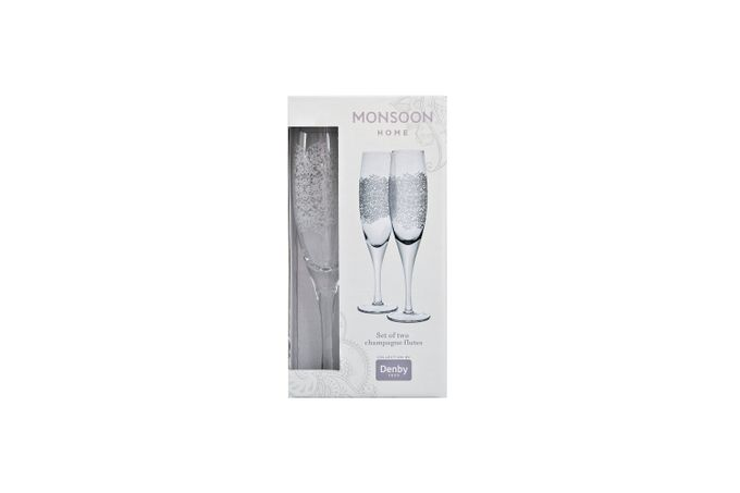 Denby Monsoon Filigree Flute - Set of 2