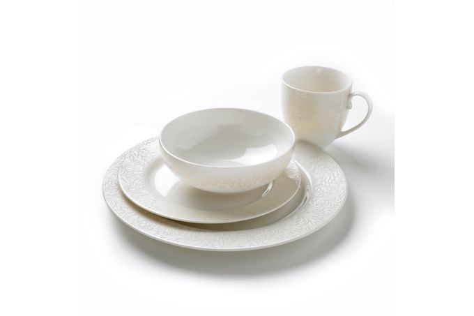 Denby Monsoon Lucille Gold 16 Piece Set 4 x Dinner Plate, 4 x Medium Plate, 4 x Cereal Bowl, 4 x Large Mug