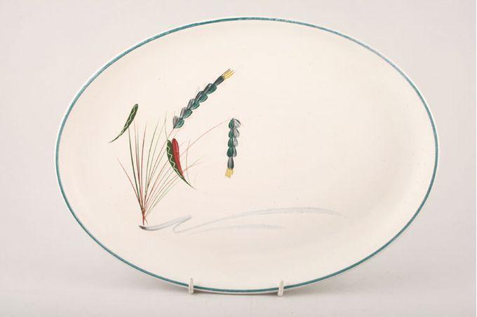 """Denby Greenwheat Oval Plate / Platter 12 1/2"""""""
