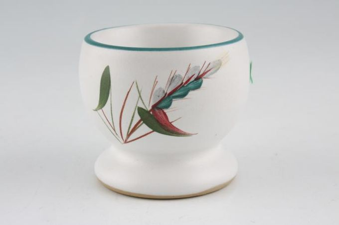 Denby Greenwheat Egg Cup Footed - hole in base. Sizes may vary slightly