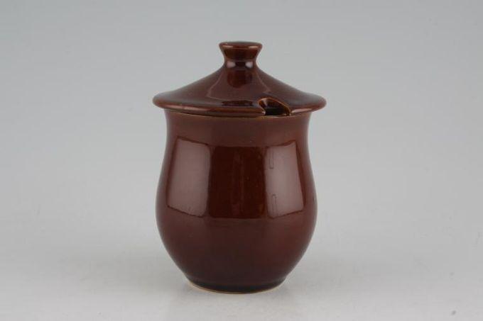 """Denby Homestead Brown Jam Pot + Lid 2 7/8 x 3 1/4"""""""