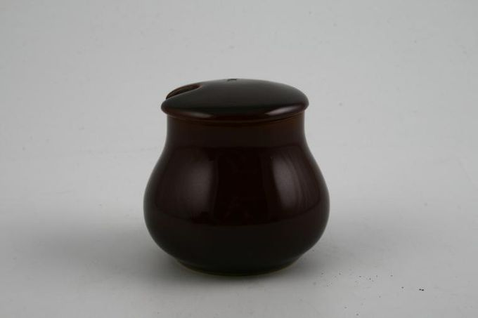 Denby Homestead Brown Mustard Pot + Lid