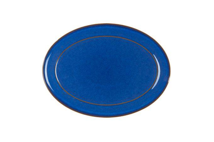 "Denby Imperial Blue Oval Plate / Platter 14 5/8"""