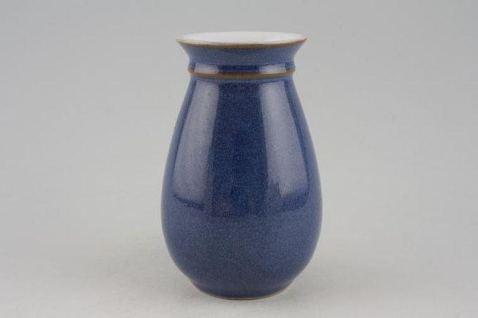 """Denby Imperial Blue Stem Vase Craftsman Collection Signed Alan Pickering 5"""""""