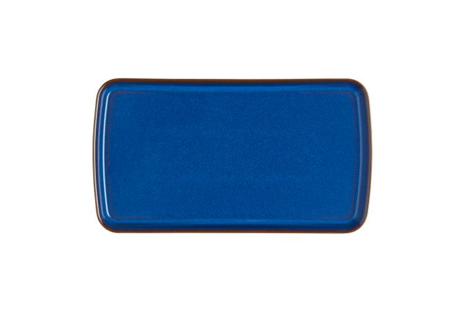 Denby Imperial Blue Rectangular Tray 26 x 14.5cm