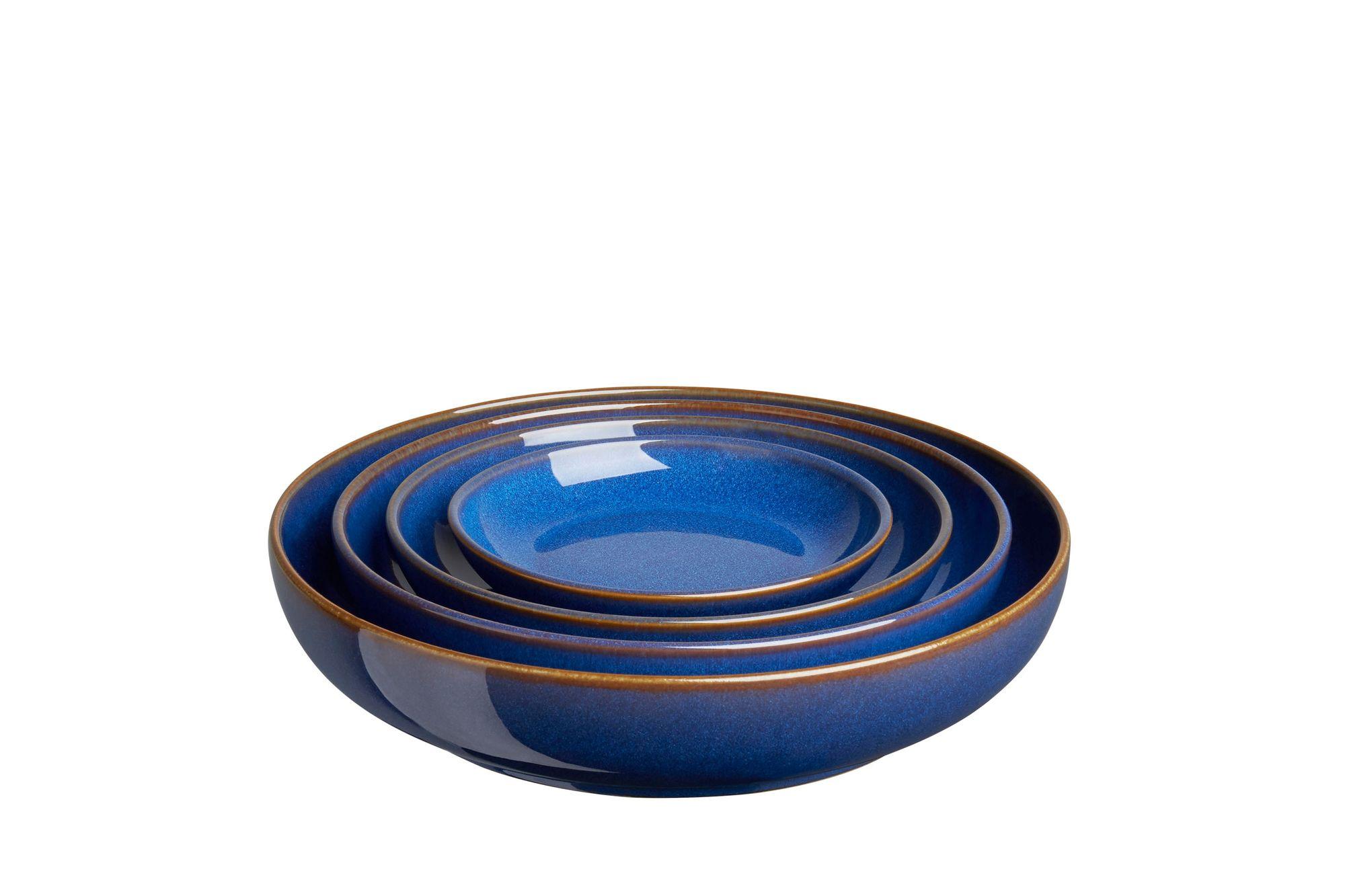 Denby Imperial Blue 4 Piece Nesting Bowl Set thumb 1