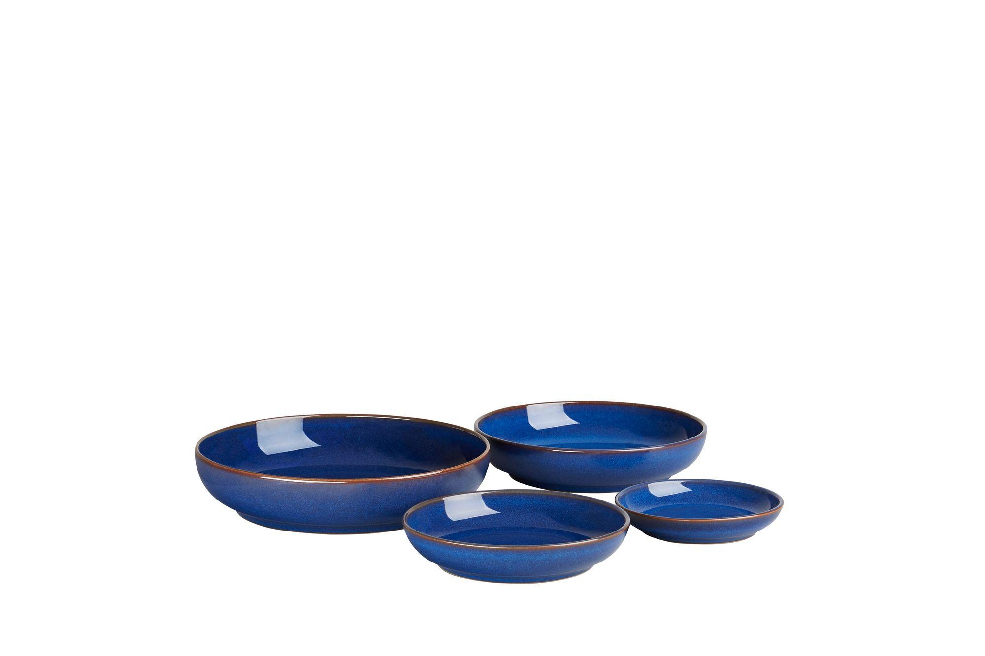 Denby Imperial Blue 4 Piece Nesting Bowl Set thumb 2