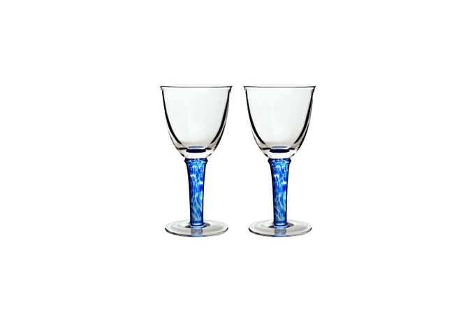 Denby Imperial Blue Pair of Red Wine Glasses