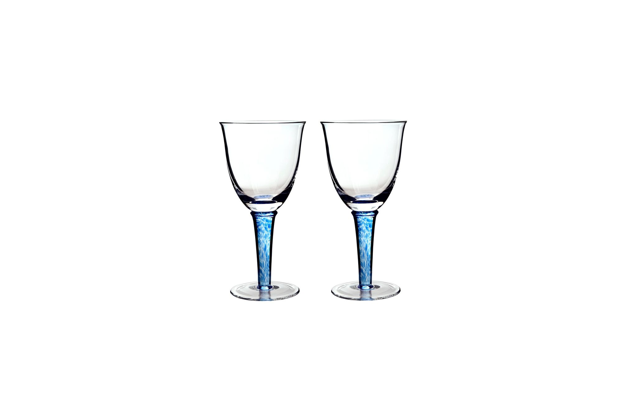 Denby Imperial Blue Pair of White Wine Glasses thumb 1