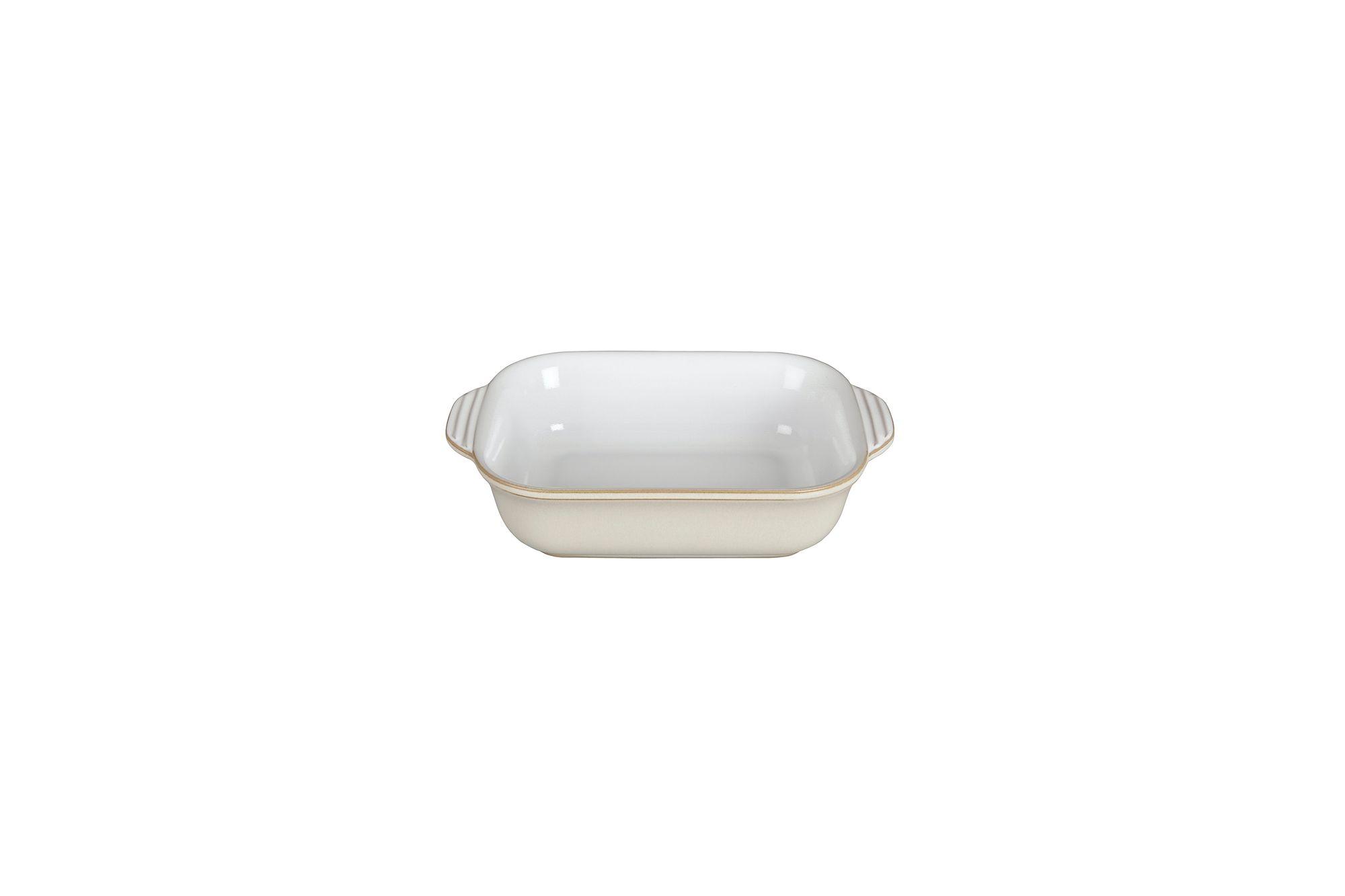Denby Linen Oven Dish Oblong, Eared, White Inside - Small 21.5 x 13.8 x 5.7cm, 0.5l thumb 2