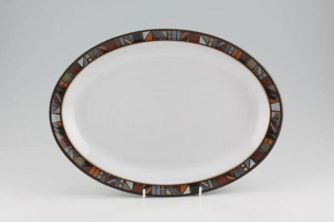 """Denby Marrakesh Oval Plate / Platter Rimmed / White Centre 13"""""""