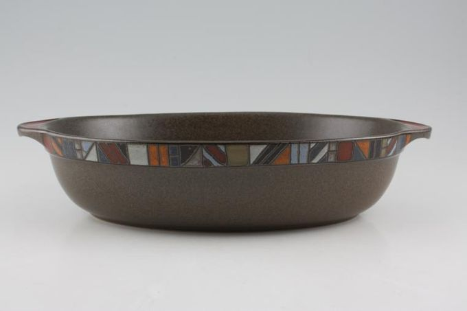 """Denby Marrakesh Serving Dish Oval, eared, brown 12 3/4 x 8"""""""