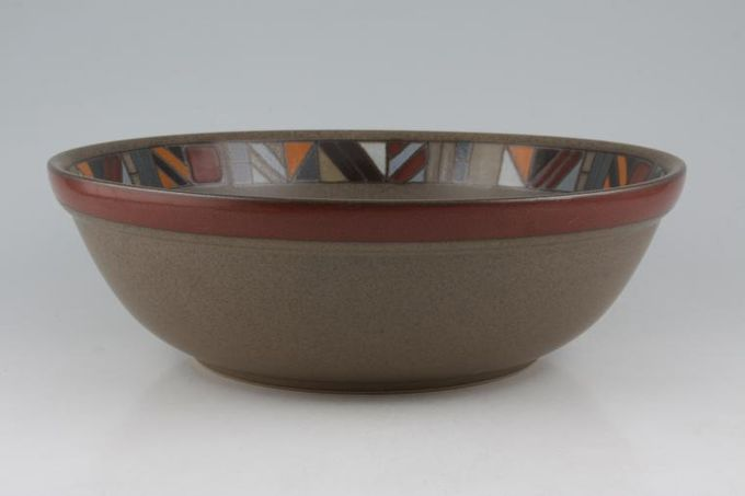 "Denby Marrakesh Serving Bowl Brown Centre 11 1/2"""