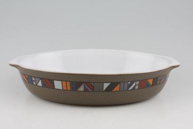 """Denby Marrakesh Serving Dish Oval, Eared / White Inner 12 3/4"""""""