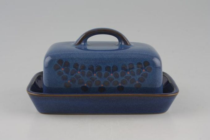 Denby Midnight Butter Dish + Lid Box Shaped Lid WITH handle