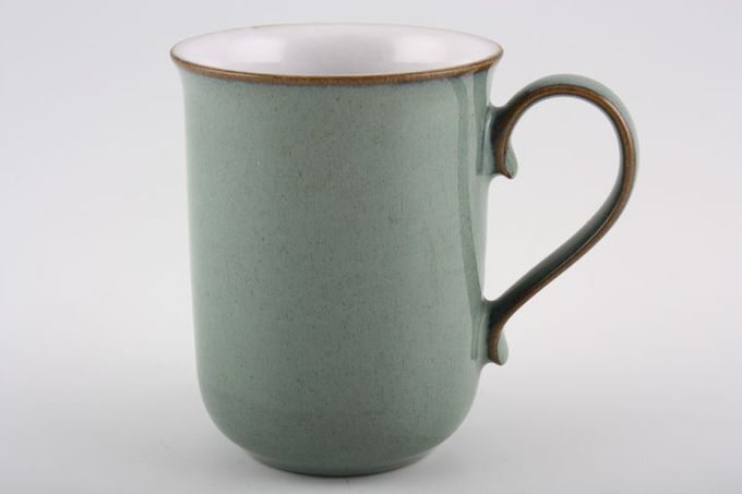 Denby Regency Green Mug Ear shaped handle 3 x 4""