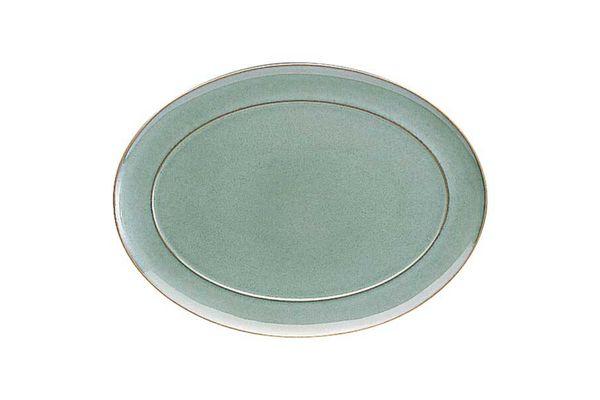 "Denby Regency Green Oval Plate / Platter Green 14 5/8"""