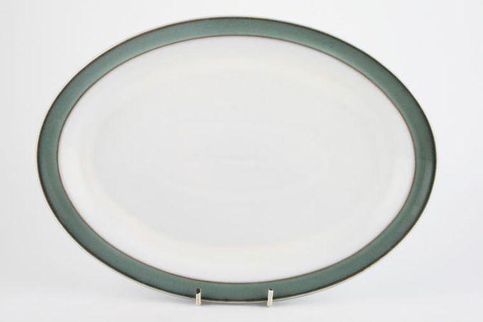 """Denby Regency Green Oval Plate / Platter White Centre 12 3/4"""""""