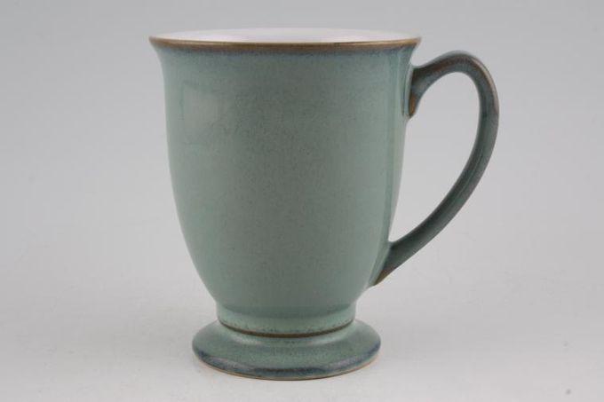 "Denby Regency Green Mug Footed 3 1/2 x 4 1/4"""