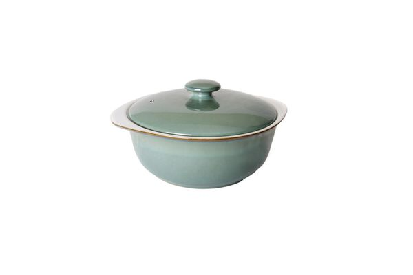 Denby Regency Green Casserole Dish + Lid New Shape, Eared