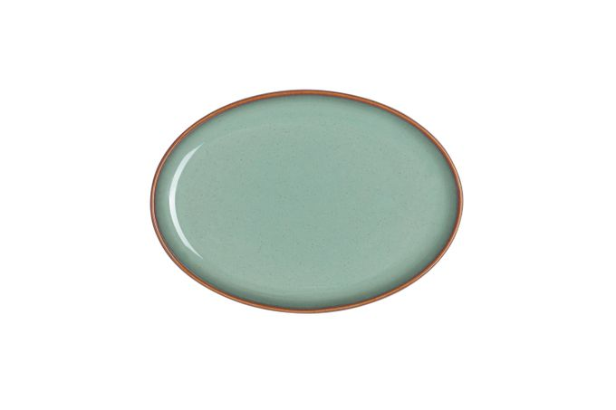 Denby Regency Green Serving Tray Small Oval Tray 19 x 14""